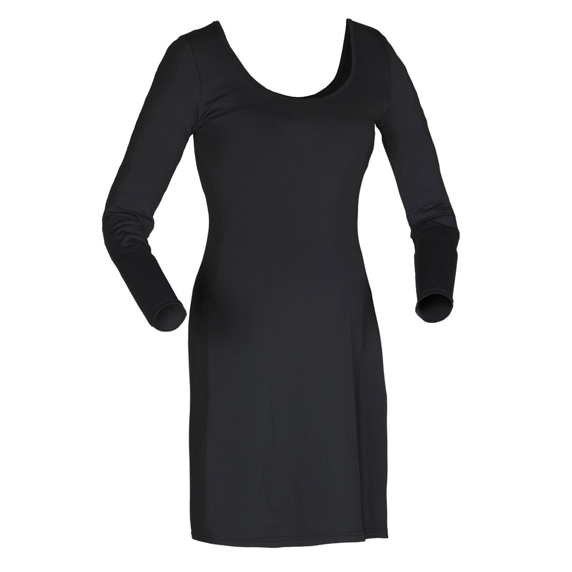 Women's Full Length Scoop Neck Dress-