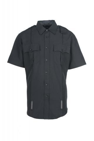 Men's Short-Sleeve Duty Shirt - Poly Sorbtek (Zipper & Mic Port)-