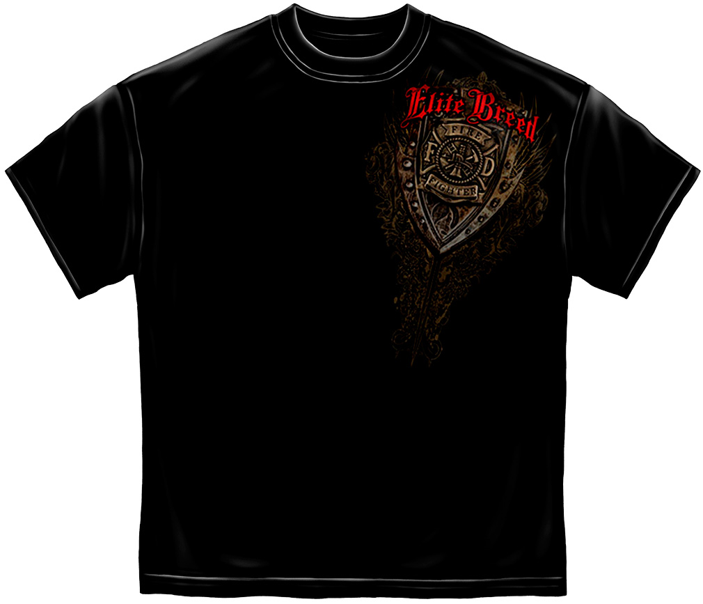 Elite Breed Born Fire Fighter T-Shirt-Derks Uniforms