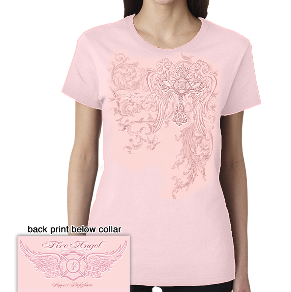 Fire Angel Pink Women's T-Shirt-Derks Uniforms