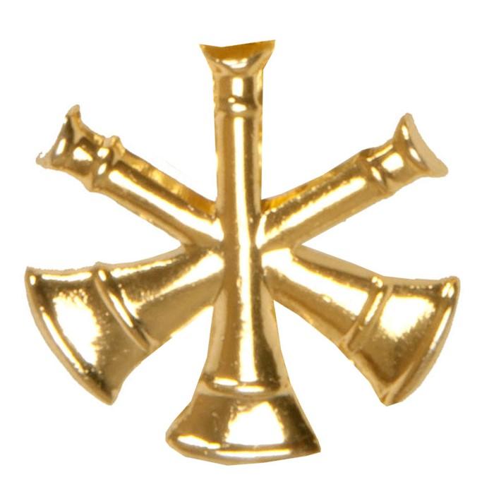 3 Cross Bugle Collar Dog or Medallion-Derks Uniforms