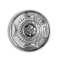 CAFC Button Small Silver-Derks Uniforms