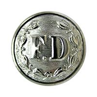 FD Button Small Silver-Derks Uniforms