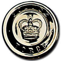POLICE Button Large Gold-