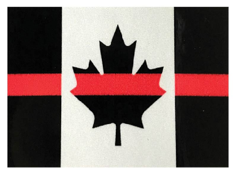 Thin Red Line 3M Decal-Derks Uniforms
