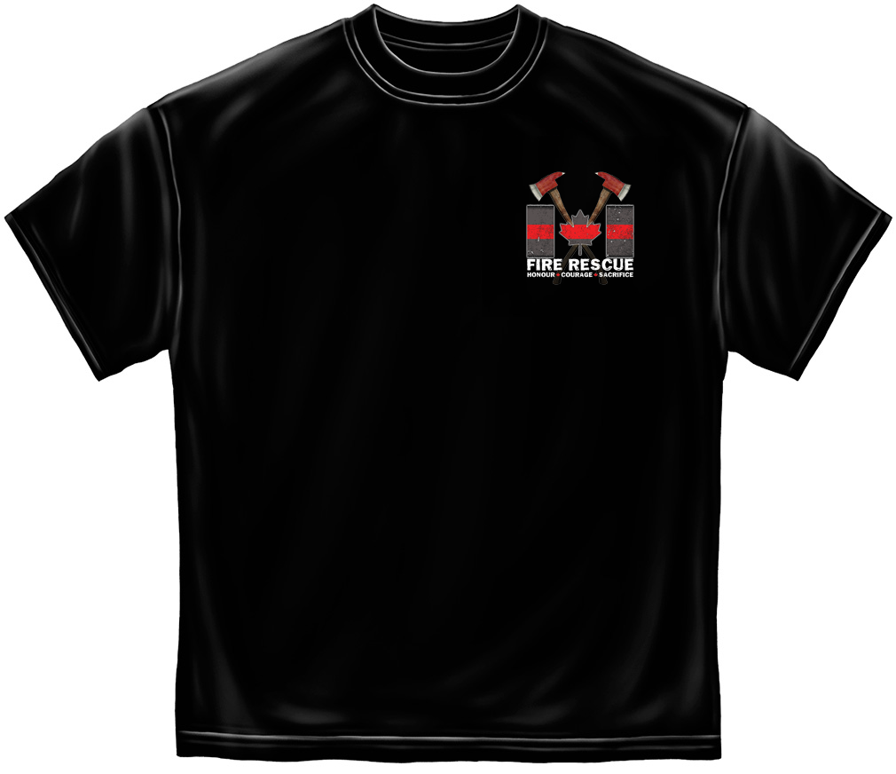 Firefighter Thin Red Line T-Shirt