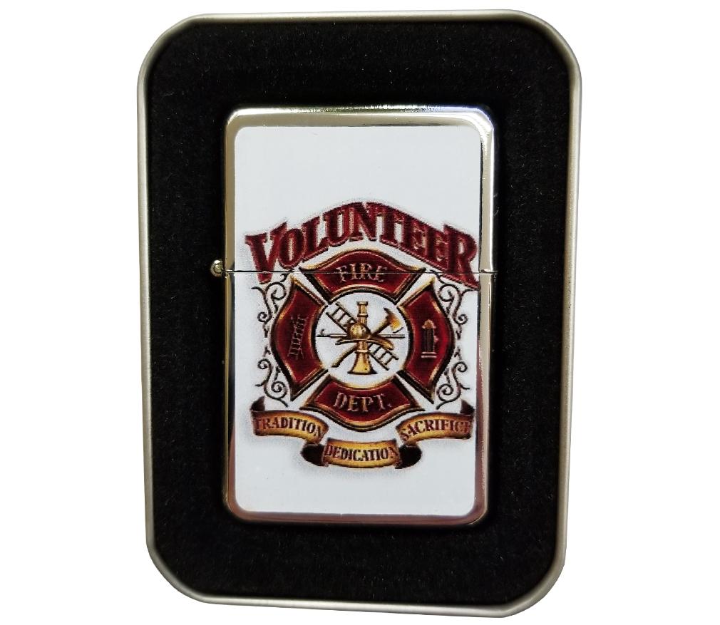 Volunteer Fire Dept. Stainless Steel Lighter-