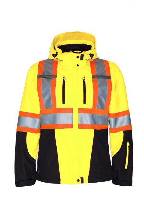 Hi-Vis 3-Layer Ladies' Insulated Softshell Jacket-