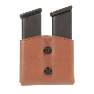Leather Dual Mag Pouch for Single Stack Mags