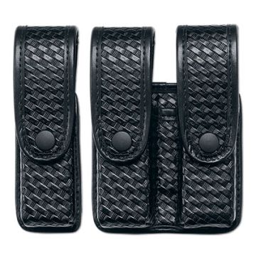 88261 Fitted Pistol Magazine Cases , Double Close-Uncle Mike's