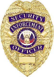 Security Enforcement Officer Badge-Blackinton Insignia and Recognition
