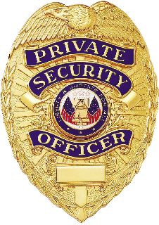 Private Security Officer Badge-