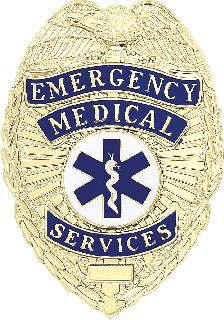 EMER MEDICAL SERV BADGE-Blackinton Insignia and Recognition