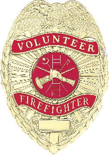 Volunteer Firefighter Badge-