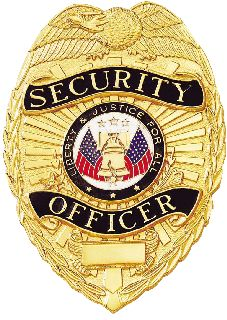 A-9037 SECURITY OFFICER BADGE-Blackinton Insignia and Recognition