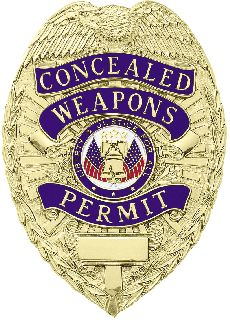 CONCEAL WEAPON PER BADGE-Blackinton Insignia and Recognition
