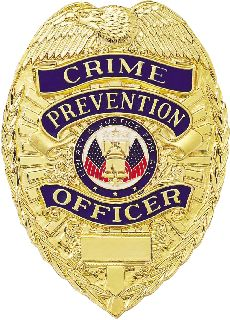 Crime Prevention Officer Badge-Blackinton Insignia and Recognition