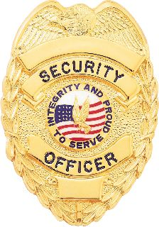 B-2078 STOCK SECURITY BADGE-Blackinton Insignia and Recognition