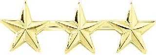 "3 STARS 1/2"" - SMOOTH-Blackinton Insignia and Recognition"