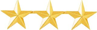 "3 STARS 1"" - SMOOTH-Blackinton Insignia and Recognition"