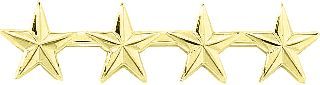 "4 STARS 1/2"" - SMOOTH-Blackinton Insignia and Recognition"