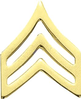 J-130 LG. SGT. CHEVRONS-SMOOTH-Blackinton Insignia and Recognition