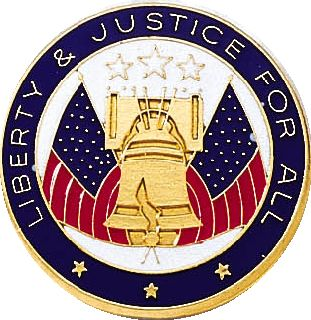 LIBERTY & JUSTICE LAPEL-Blackinton Insignia and Recognition