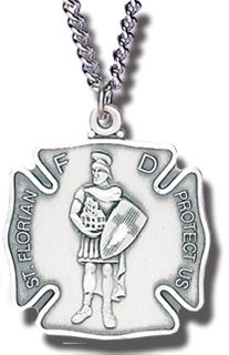 "5/6"" MED ST. FLORIAN MEDAL WITH CHAIN-"