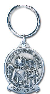 "3"" X 1.5"" ST. MICHAEL KEYCHAIN-Blackinton Insignia and Recognition"