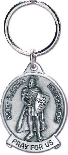 "3"" H X 1.5"" W ST. Florian Fd Keychain-Blackinton Insignia and Recognition"
