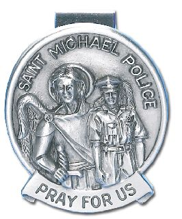"1.5"" ST. MICHAEL VISOR CLIP-Blackinton Insignia and Recognition"