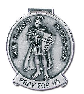 "1.5"" ST. FLORIAN VISOR CLIP-Blackinton Insignia and Recognition"