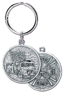 "3"" H X 1.5"" W FIRE DEPT. KEY CHAIN-Blackinton Insignia and Recognition"