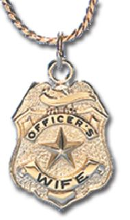 "7/8"" OFFICER'S WIFE CHARM WITH CHAIN"