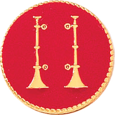 2 VERT HORNS COLLAR INS-Blackinton Insignia and Recognition