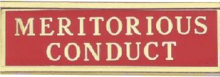 MERITORIOUS CONDUCT CB-