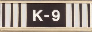 K-9 HANDLER COMM BAR-Blackinton Insignia and Recognition