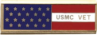 USMC Vet w/Flag-Blackinton Insignia and Recognition
