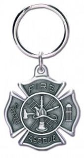 "3"" J X 1.5"" W FIRE SHAPED KEY RING-Blackinton Insignia and Recognition"