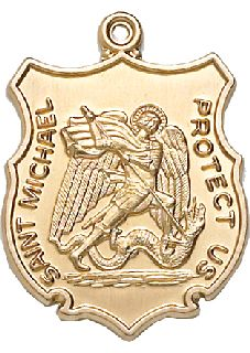 """1"""" LG ST. Michael Medal-Blackinton Insignia and Recognition"""