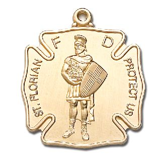"""1"""" LG ST. Florian Medal-Blackinton Insignia and Recognition"""