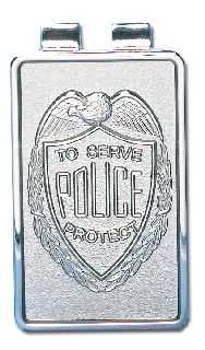 "2"" X 1"" Police Money Clip-Blackinton Insignia and Recognition"
