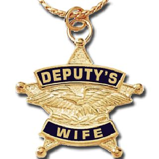 "7/8"" Deputy's Wife Charm/Chain-Blackinton Insignia and Recognition"