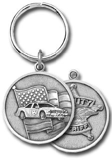 """3"""" H X 1.5"""" W DEPUTY 2 SIDED KEYCHAIN-Blackinton Insignia and Recognition"""