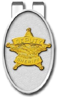 """2"""" X 1.25"""" Sheriff Money Clip-Blackinton Insignia and Recognition"""