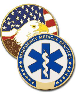 1 3/4 EMS Color Eagle-Blackinton Insignia and Recognition