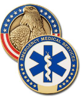 1 3/4 EMS MODELED EAGLE-Blackinton Insignia and Recognition