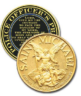 "1 3/4"" ST MICHAEL COIN-"