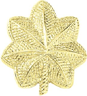 SM. Major Leaves-Embossed-Blackinton Insignia and Recognition