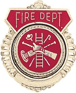 FIRE DEPT EMBL TIE TAC-Blackinton Insignia and Recognition